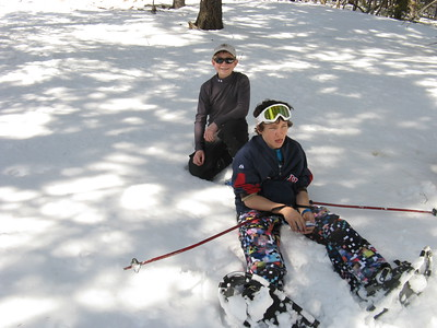 Staying on top of the snow takes effort, even with snowshoes.