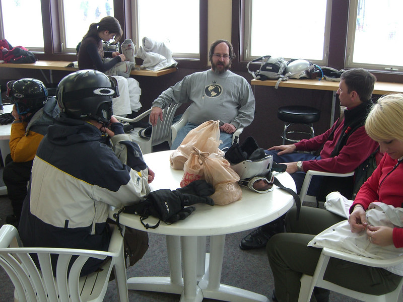 All right - our table at Ski Cooper.