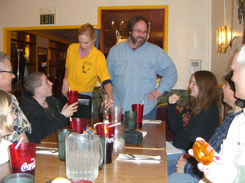 Dinner at some Burro Place in Leadville.