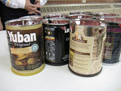 Free coffee cans?