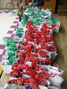 Special Christmas gift bags for everyone, in addition to the regular give-aways.