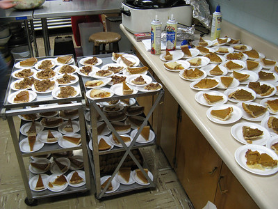 I think in the end - the pies took over! Pumpkin pie was a rare special treat, instead of the usual tasty cupcakes.