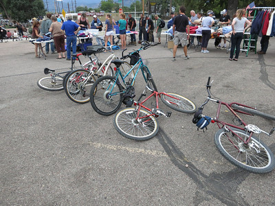 A great collection of bikes to be raffled.