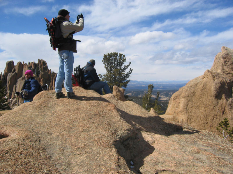 Topping out at about 10,800'.    Ben is in the process of shooting a wide panorama to be stitched together later.