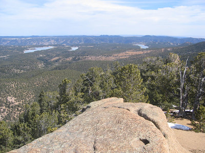 Looking northeast to the Catamount Reservoirs on the left and and Crystal Creek Res. on the right.