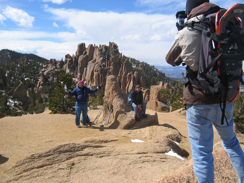 Joe and Friends hanging out at The Crags.