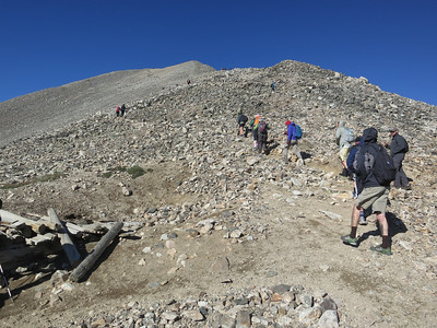 But we're heading up the much busier Mt Democrat side.