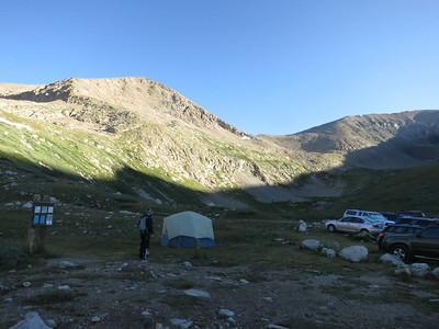The TH is also a primitive campground. .. Mtneers commonly camp at the TH the night before the climb to get a very early start, as well as to acclimatize.