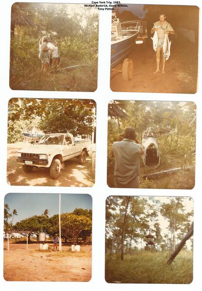 Cape York, 1983. Kerry Willcox, Tony Patton, Michael Roderick. Scanned photos from an old Kodak film camera.