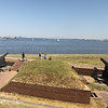 View of the Civil War earthworks and entrence to Baltimore Harbor as seen from the wall of the origonal fort. The location of the modern Francis Scott Key bridge is the aproximate location of the armada of British warships that bombarded the fort for 25 continous hours on September 13th 1814.