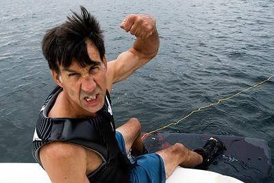 Waterskiing!