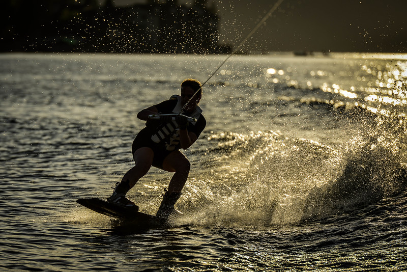 Big Bear Lake Sunset Wakeboarding-4