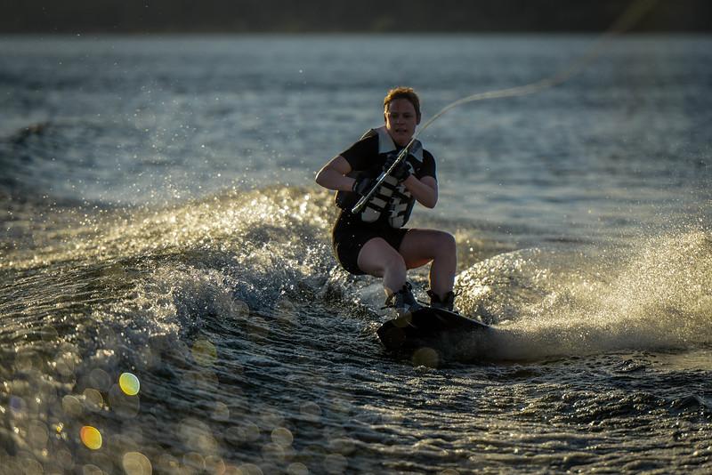 Big Bear Lake Sunset Wakeboarding-5
