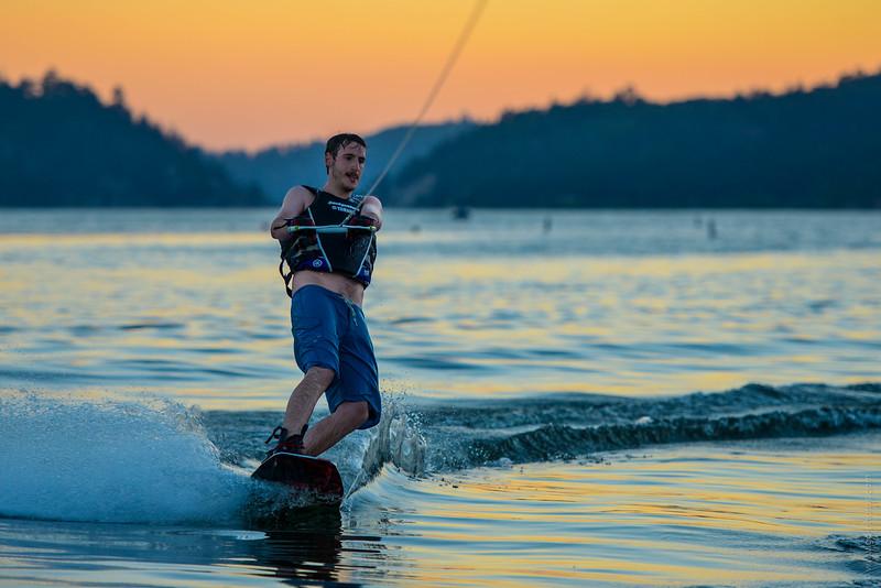 Big Bear Lake Sunset Wakeboarding-10