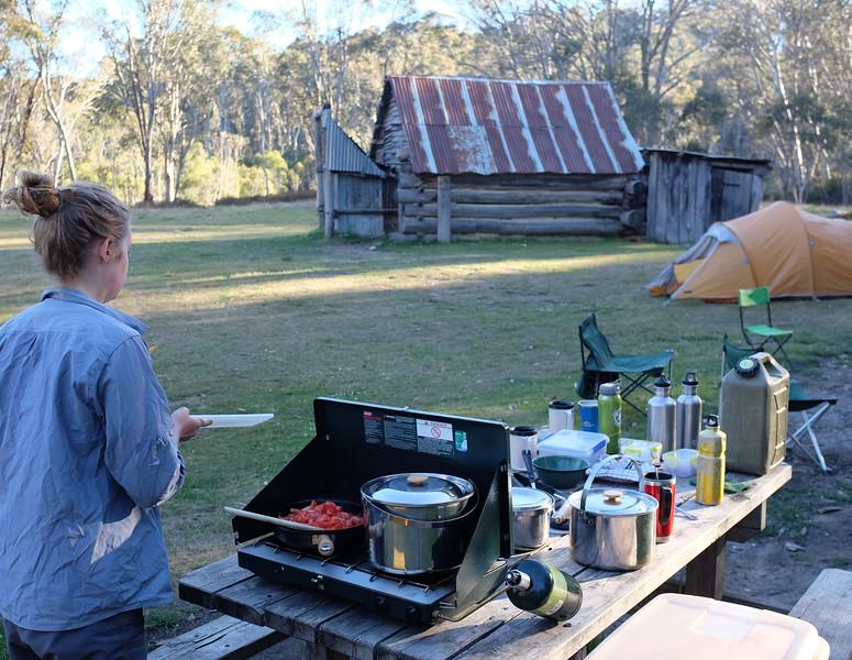 Dinner, Davies Hut, Victoria