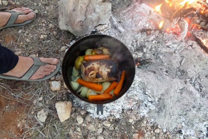 Camp oven roast