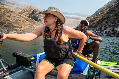 #4 - boat mates, Kath and Shan.  Lower Salmon River, August