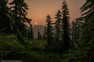 #38 - A smoky summer in Washington.  PCT, August