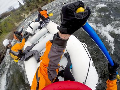 #6 - A guide's view.  Wenatchee River, April