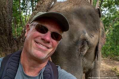 #1.  Backstory:  Is a selfie with an elephant an elfie?  In October, outside Chiang Mai, Thailand, Cherie' and I fed, bathed and selfied with two Asian elephants!  Gentle giants that you care that you did not inadvertently end up under their feet!