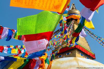 #33.  Backstory:  The eyes have it, at Boudhanath Stupa, Kathmandu.