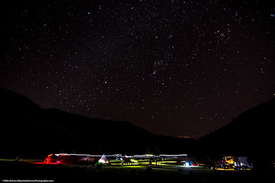 #23.  Backstory:  A starry night as we get ready for a rafting trip, at Mecca Flats, Deschutes River, Oregon.