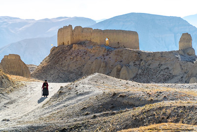 #29.  Backstory:  An elderly lady walks a remote among ruins that are centuries old, near the Nepal-Tibet border.