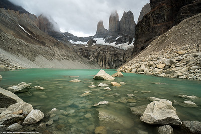 #26.  Backstory:  The actual Torres del Paine, in Torres del Paine NP, Chile.  This viewpoint required a couple of hour hike and about 2000' gain, from our refugio.