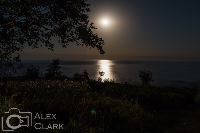 Moonrise over Lake Superior