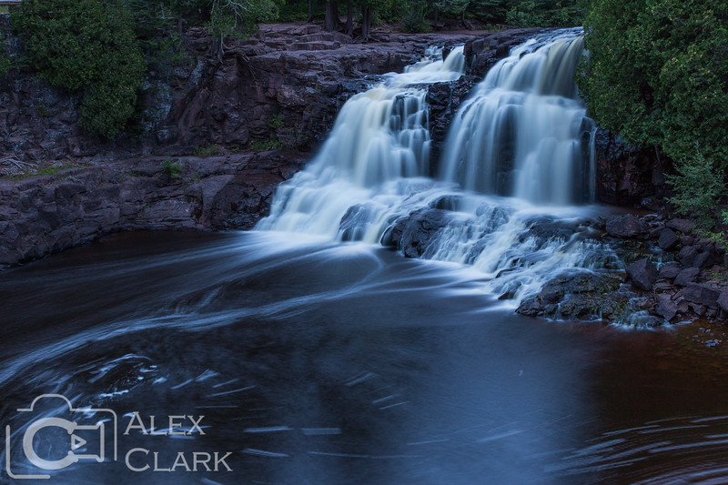High Falls at twilight