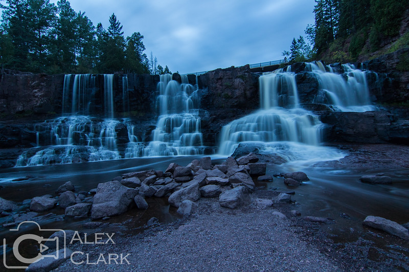 Middle Falls at twilight