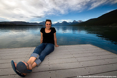 #8 - Annie, on the shores of MacDonald Lake, Glacier National Park, during my visit to Montana in July.
