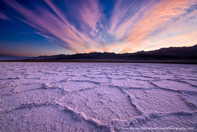 #17 - A salt pan foregrounds, and a spectacular sunrise, make this one of my favorite images from my March trip to Death Valley.