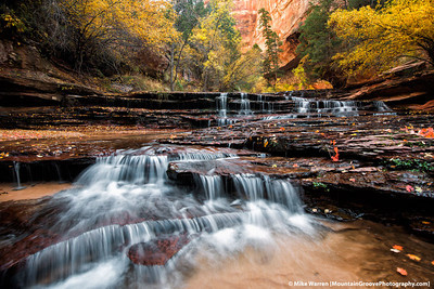 #31 - Arch Angel Falls, in the Subway area along the Left Fork of the Virgin River, Zion National Park, taken during my November workshop.