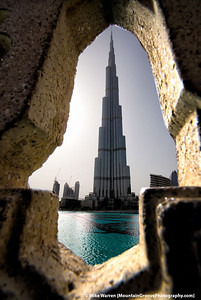 #27 - The Burj Khalifa, the world's tallest bulding at 160 stories, taken during our 1 day, 2 night May layover in Dubai on our way to India. We rode to the world's tallest observation deck at 124 stories in the world's fastest elevator!