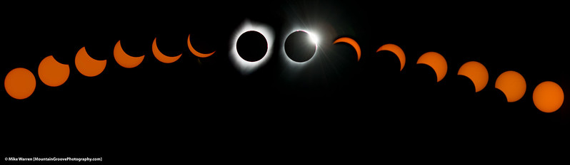 #7 - Composite of the total solar eclipse.  John Day, OR, August