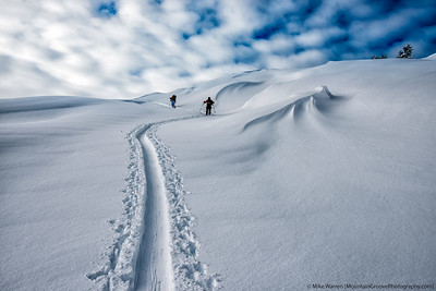 Backcountry Skiing the Mt Baker backcountry in December, 2014.