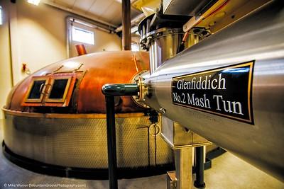Glenfiddich Scotch distillery, Scotland, in June.