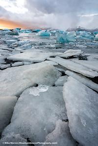 Jokulsarlon Lagoon, Iceland, in November.
