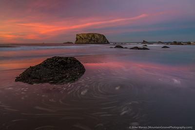 Bandon sunset, Oregon Coast, in February.