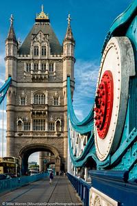 Tower Bridge, London, in July.