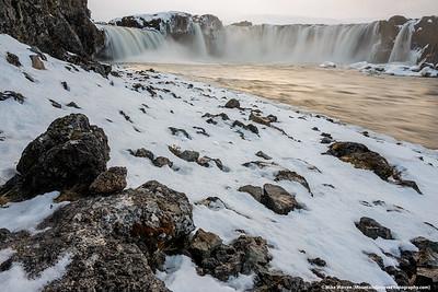 Godfoss, northern Iceland, in November.  2 shot focus blend.