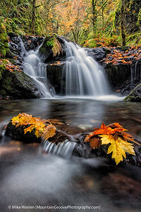 #11 - Emerald Falls, Columbia River Gorge.  Fall colors abound in mid October.  Tripod, f/14, 6.0, f/50, CPL