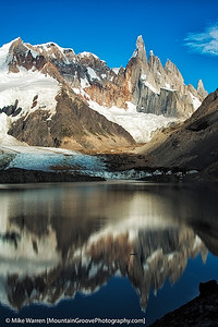#18 - Cerro Torre, reflected in Laguna Torre, Patagonia, Argentina, taken the 3rd morning of our trek.  Handheld, f/4.5, 1/2000, ISO200