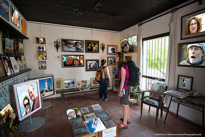 #21 - A little Photoshop magic transforms an art gallery in Colonia, Uruguay, into a gallery of Cebe's friends!   Handheld, f/4, 1/40, ISO400