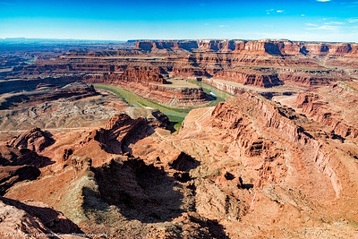 Green river from Dead Horse Point.
