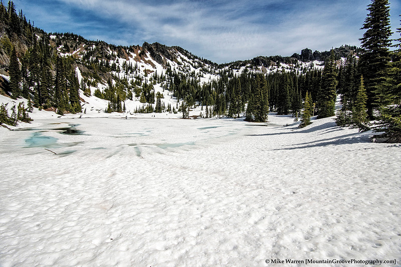 Beautiful, frozen Sheep Lake