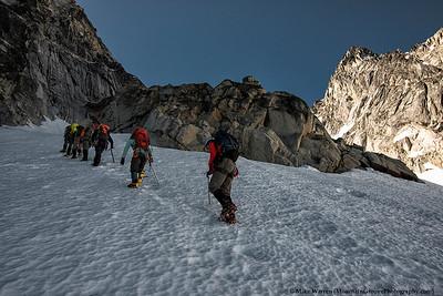 Headed onto the Colchuck glacier
