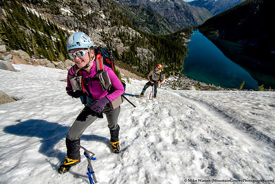 Rodica and Ian, gain the first 1000' toward the col
