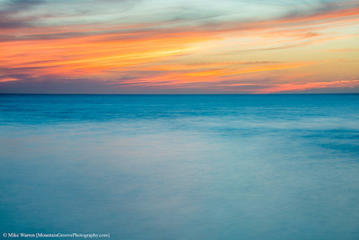 A long exposure makes the water silky, and turns the sky into pastels.
